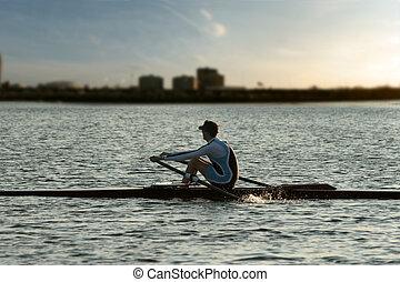 单独, 划船