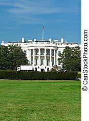 南白い家, 芝生, 青い空, washington d.c.