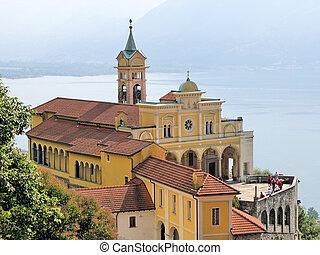 南, スイス, 古い, sasso, 教会, del, madonna