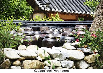 南, 伝統的である, seonbichon, 韓国, jangdokdaejar, 村