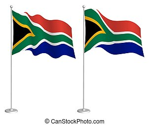 南, 隔離された, element., wind., 揺れている旗, チェックポイント, symbols., 白, ...