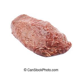 単一, スライス, 肉, 牛肉, 隔離された