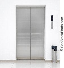 単一, ドア, エレベーター