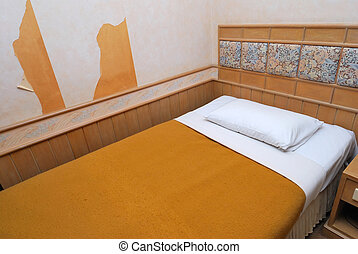 単一, ホテル, 現代部屋, ベッド
