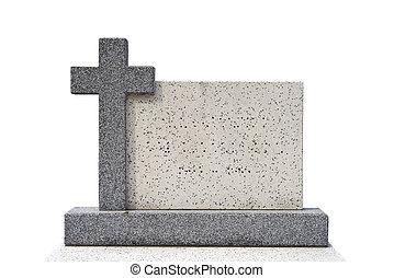 単一, 墓, 石, 切りなさい, (clipping, path)