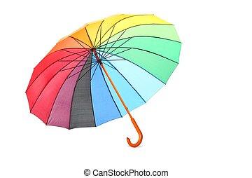 単一, 有色人種, 傘, ある, あること, 上に, a, floor., isolated.