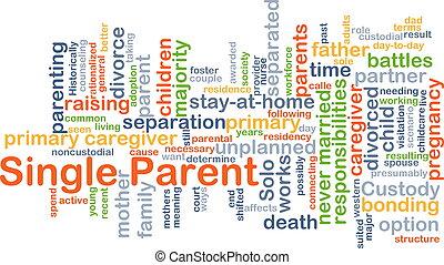 単一, 概念, 親, 背景