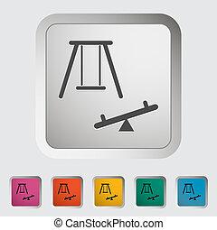 単一, icon., swing.