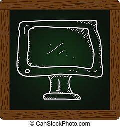 単純である, いたずら書き, スクリーン, tv