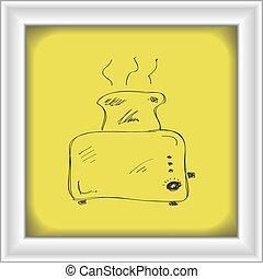 単純である, いたずら書き, トースター