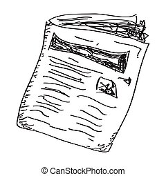 単純である, いたずら書き, 新聞