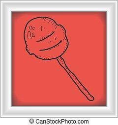 単純である, いたずら書き, lollipop