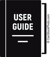 単純である, アイコン, ユーザー, スタイル, ガイド