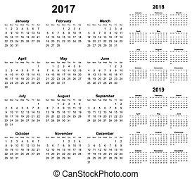 単純である, カレンダー, ベクトル, editable