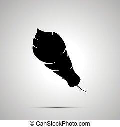 単純である, シルエット, 黒, 羽, 影, アイコン