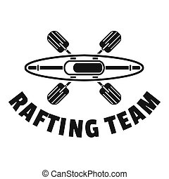 単純である, スタイル, いかだで運ぶこと, ロゴ, チーム
