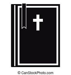 単純である, スタイル, 聖書, アイコン