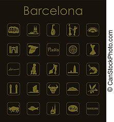 単純である, セット, バルセロナ, アイコン