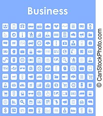 単純である, セット, ビジネス アイコン