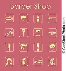 単純である, セット, 理髪店, アイコン
