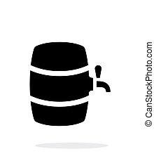 単純である, バックグラウンド。, ビール, 白, 樽, アイコン