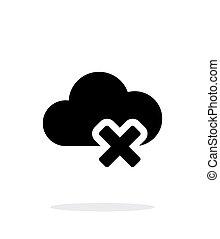 単純である, バックグラウンド。, 白, 削除, 雲, アイコン