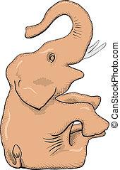単純である, ベクトル, -, 図画, 象