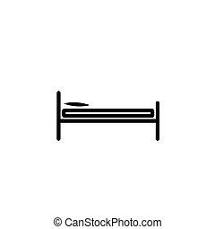 単純である, ベッド, アイコン