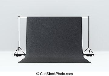 単純である, 写真の スタジオ, 内部