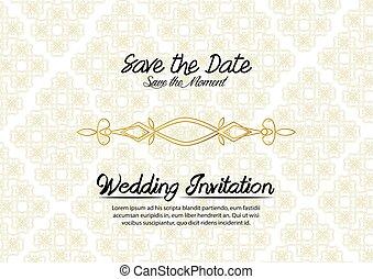 単純である, 型, 結婚式の招待