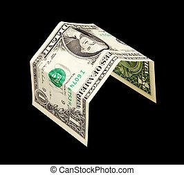 単純である, 家, ドル, 隔離された, 1(人・つ), メモ, 黒, 銀行