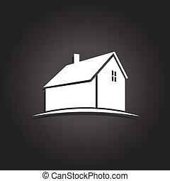 単純である, 家, icon., ベクトル, アイコン