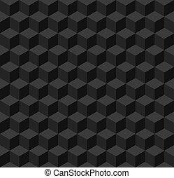 単純である, 幾何学的, 黒, seamless, 背景