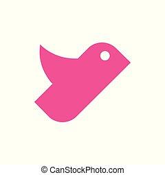 単純である, 形, 飛行, シンボル, 鳥