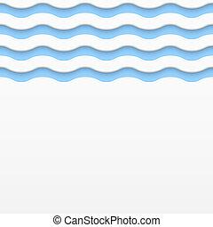単純である, 抽象的, ライト, 背景, 波