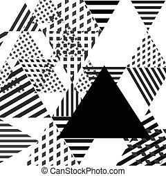 単純である, 抽象的, 三角形, 幾何学的, 背景