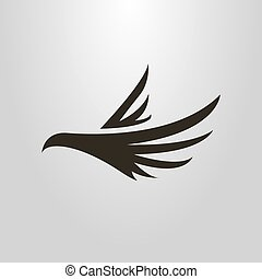 単純である, 抽象的, 飛行の鳥, ベクトル, シンボル