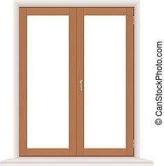 単純である, 木製である, 窓