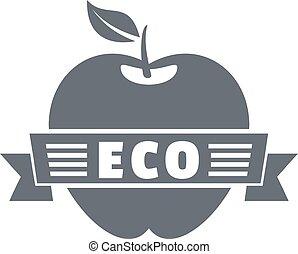 単純である, 灰色, スタイル, アップル, ロゴ