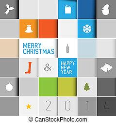 単純である, 現代, ベクトル, minimalistic, クリスマスカード