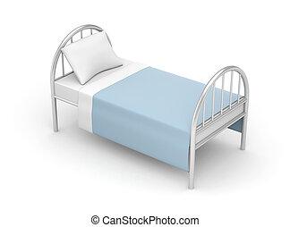 単純である, 病院, ホテル, bed., ベッド, ∥あるいは∥