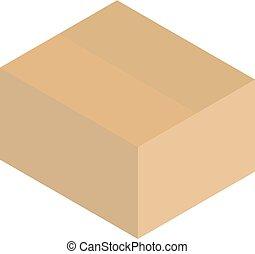 単純である, 箱, carboard, ベクトル