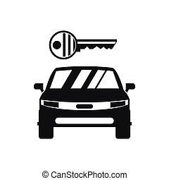 単純である, 自動車, スタイル, キーアイコン