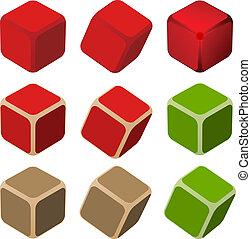 単純である, 色, ベクトル, 立方体