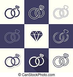 単純である, 装飾用である, 結婚指輪, アイコン