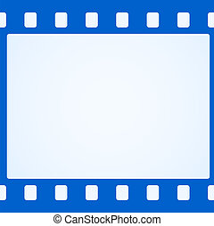 単純である, 青, フィルム, 背景, ストリップ