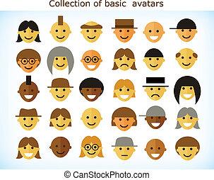 単純である, avatars