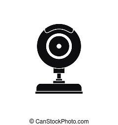 単純である, webcam, スタイル, アイコン