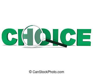単語の選択, オプション, 不確か, 選択, ∥あるいは∥, ショー