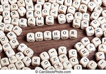 単語, -, さいの目に切る, 手紙, 著者
